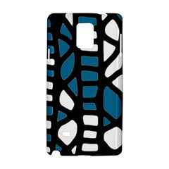 Blue decor Samsung Galaxy Note 4 Hardshell Case