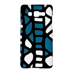 Blue decor Samsung Galaxy A5 Hardshell Case