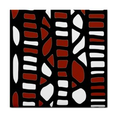 Red Decor Tile Coasters