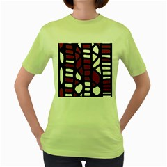 Red decor Women s Green T-Shirt