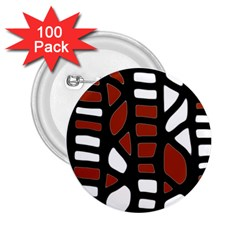 Red decor 2.25  Buttons (100 pack)