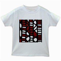 Red decor Kids White T-Shirts