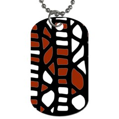 Red decor Dog Tag (One Side)