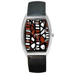Red decor Barrel Style Metal Watch
