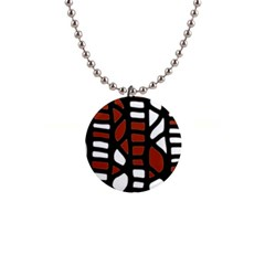 Red decor Button Necklaces