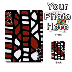 Red decor Playing Cards 54 Designs