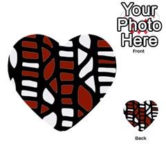 Red decor Multi-purpose Cards (Heart)