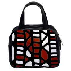 Red decor Classic Handbags (2 Sides)