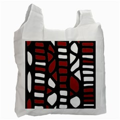 Red decor Recycle Bag (One Side)