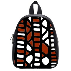Red decor School Bags (Small)