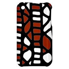 Red decor Apple iPhone 3G/3GS Hardshell Case