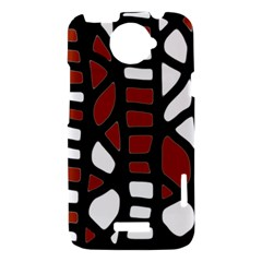 Red decor HTC One X Hardshell Case