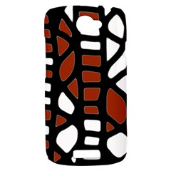 Red decor HTC One S Hardshell Case
