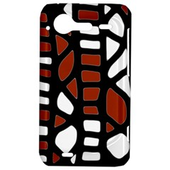 Red decor HTC Incredible S Hardshell Case