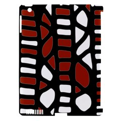 Red decor Apple iPad 3/4 Hardshell Case (Compatible with Smart Cover)