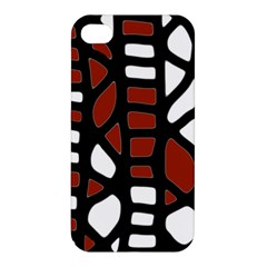 Red decor Apple iPhone 4/4S Premium Hardshell Case