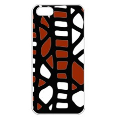Red decor Apple iPhone 5 Seamless Case (White)