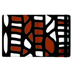 Red decor Apple iPad 3/4 Flip Case
