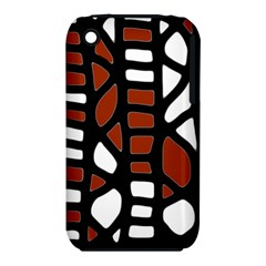 Red decor Apple iPhone 3G/3GS Hardshell Case (PC+Silicone)