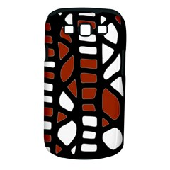 Red decor Samsung Galaxy S III Classic Hardshell Case (PC+Silicone)