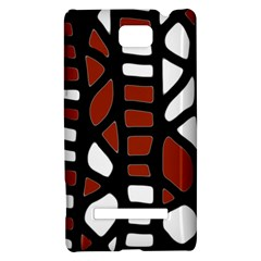 Red decor HTC 8S Hardshell Case