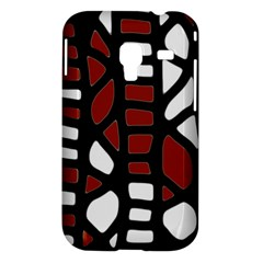Red decor Samsung Galaxy Ace Plus S7500 Hardshell Case