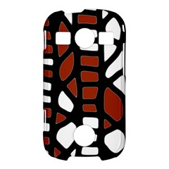Red decor Samsung Galaxy S7710 Xcover 2 Hardshell Case