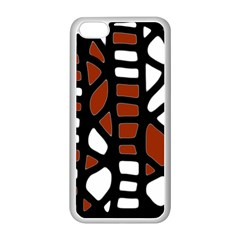 Red decor Apple iPhone 5C Seamless Case (White)