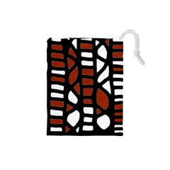 Red decor Drawstring Pouches (Small)