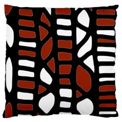 Red decor Large Flano Cushion Case (One Side)