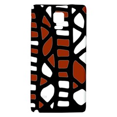 Red decor Galaxy Note 4 Back Case