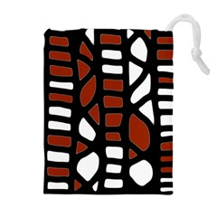 Red decor Drawstring Pouches (Extra Large)