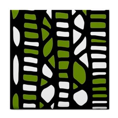 Green Decor Tile Coasters