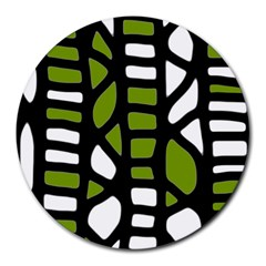 Green decor Round Mousepads