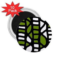 Green decor 2.25  Magnets (10 pack)