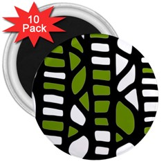 Green decor 3  Magnets (10 pack)