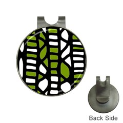Green decor Hat Clips with Golf Markers