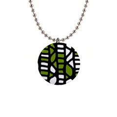 Green decor Button Necklaces
