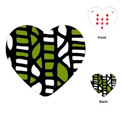 Green decor Playing Cards (Heart)