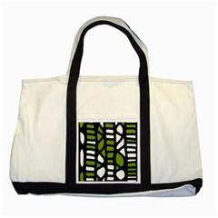 Green decor Two Tone Tote Bag