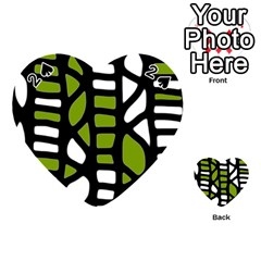 Green decor Playing Cards 54 (Heart)