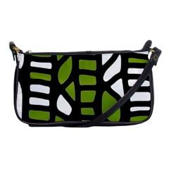 Green decor Shoulder Clutch Bags
