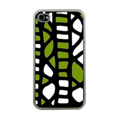 Green decor Apple iPhone 4 Case (Clear)