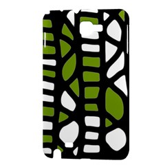 Green decor Samsung Galaxy Note 1 Hardshell Case