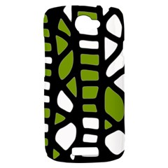 Green decor HTC One S Hardshell Case