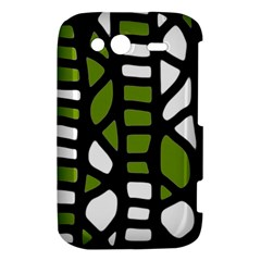 Green decor HTC Wildfire S A510e Hardshell Case