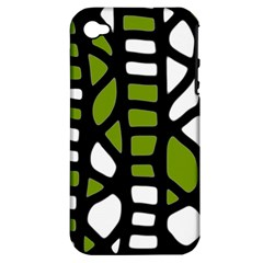 Green decor Apple iPhone 4/4S Hardshell Case (PC+Silicone)