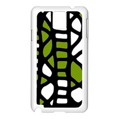 Green decor Samsung Galaxy Note 3 N9005 Case (White)