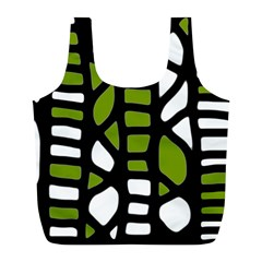 Green decor Full Print Recycle Bags (L)