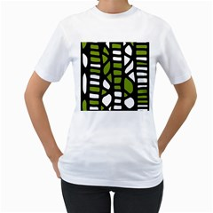 Green decor Women s T-Shirt (White)